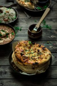Butter Garlic Naan without Tandoor/Oven