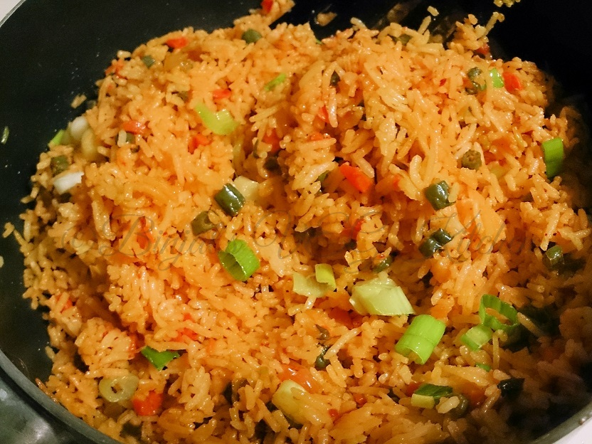 Schezwan Fried Rice - Binjal's VEG Kitchen