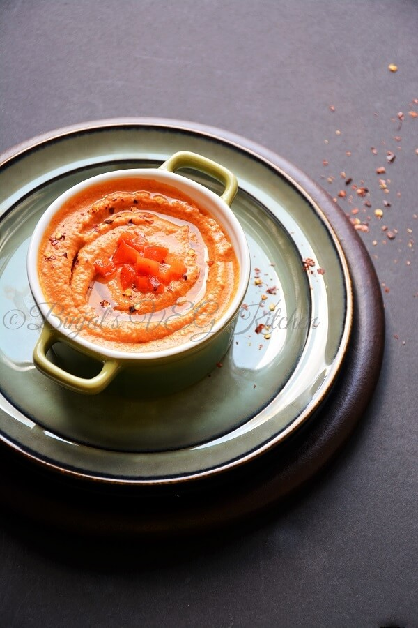 roasted red pepper hummus is one of the very popular hummus version ...