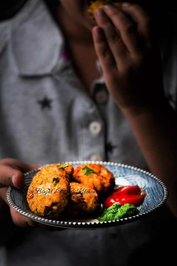 Leftover Rice Cutlets Photography