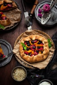 Eggless Mixed Fruit Galette