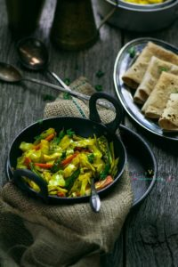 Cabbage Sambharo (Cabbage Stir Fried Salad)