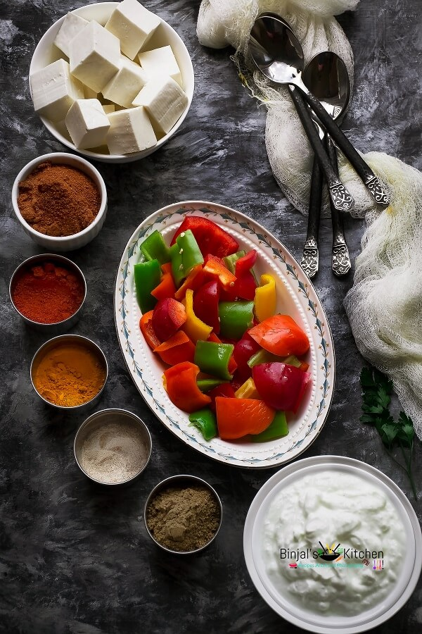 Paneer Tikka Ingredients